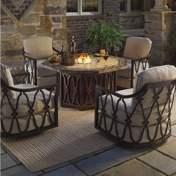 patio furniture sets with fire pit. Modren Pit Gas Fire Pit U0026 Black Sands Swivel Chairs In Patio Furniture Sets With N