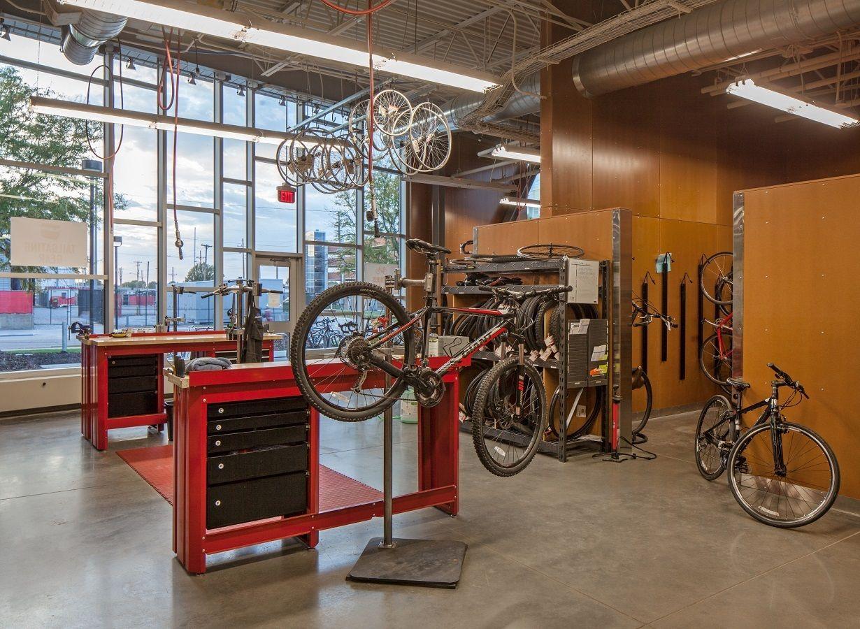 Best Kitchen Gallery: Backyard Layout Ideas Home Pinterest Garage Bike Garage of Home Bike Shop Design  on rachelxblog.com