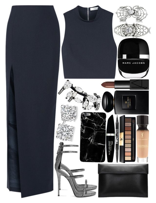 """""""nice"""" by anja-104 on Polyvore featuring Elizabeth and James, Giuseppe Zanotti, Yves Saint Laurent, Charlotte Russe, Max Factor, Giorgio Armani, NARS Cosmetics, Marc Jacobs, Repossi and BERRICLE"""