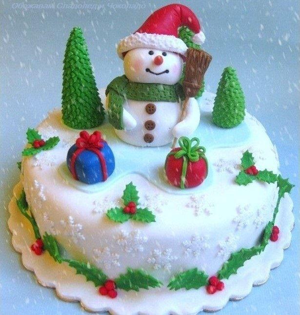 Torta Puppazzo di Neve / Snowman Cake | Christmas ...