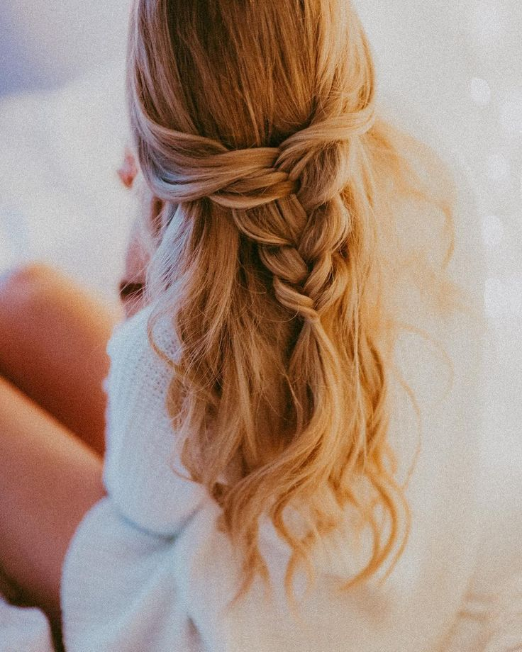 Fishtail Hairstyle Prepossessing Half Updo Fishtail Braid  Getting Pretty  Pinterest  Fishtail