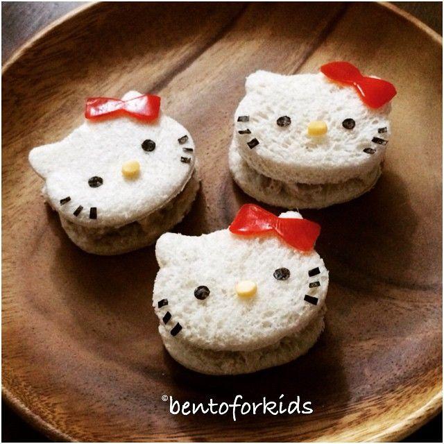 Hello Kitty sandwiches by Ara ❤️ (@bentoforkids)