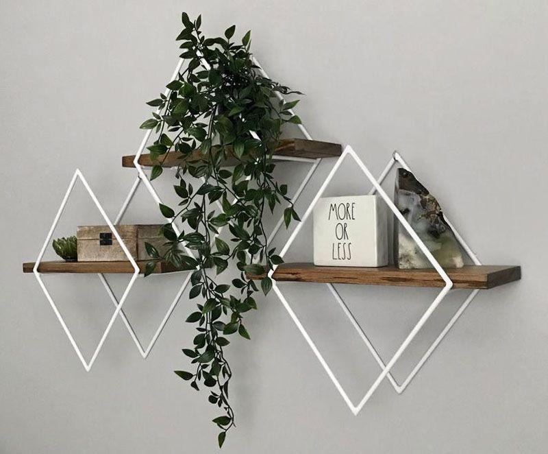 Diy Geometric Wall Shelf Diy Projects Shelves Diy Shelves