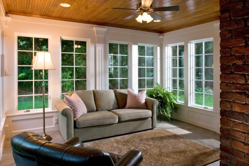 A New View Sunroom Decorating House With Porch Three Season Porch