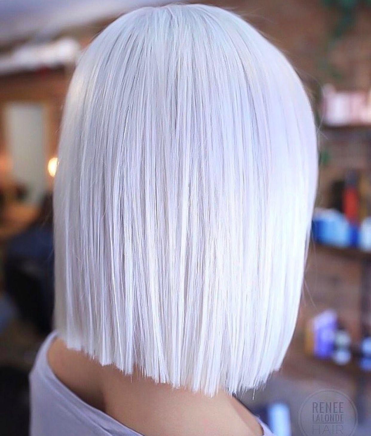 Love This Color Omg Hair Styles Short White Hair White Hair Color