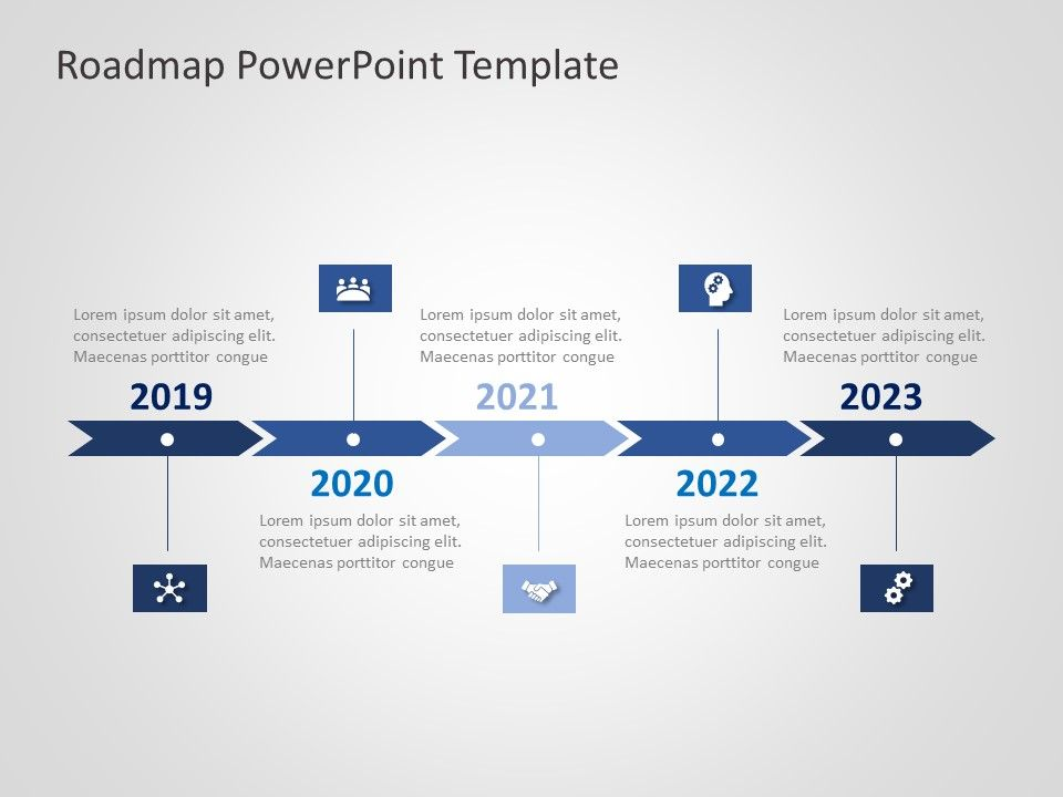 business roadmap powerpoint template 26 in 2020 templates create design