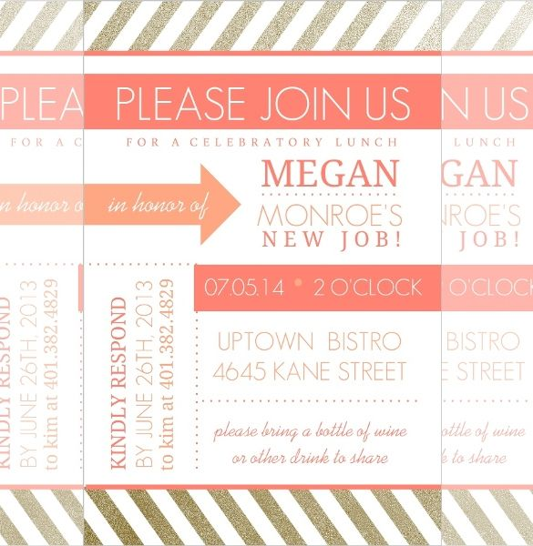 Lunch Invitation Template - 25+ Free PSD, PDF Documents Download ...