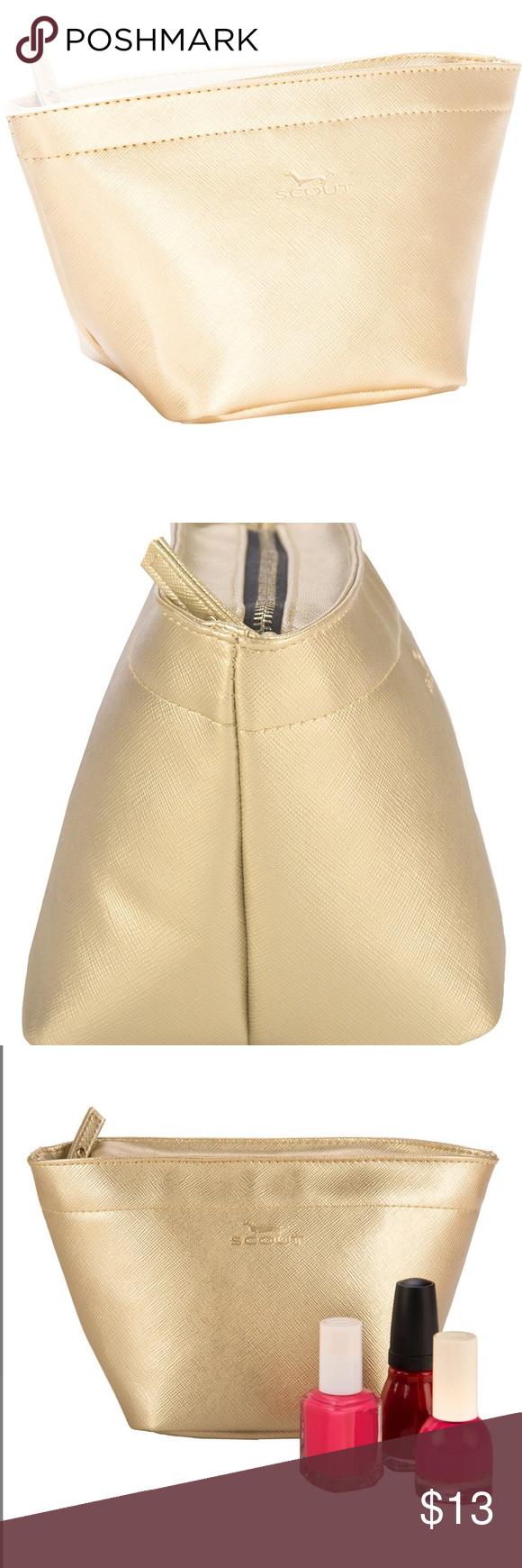 Scout Gold Crown Jewels Make up bag Boutique Silver flip