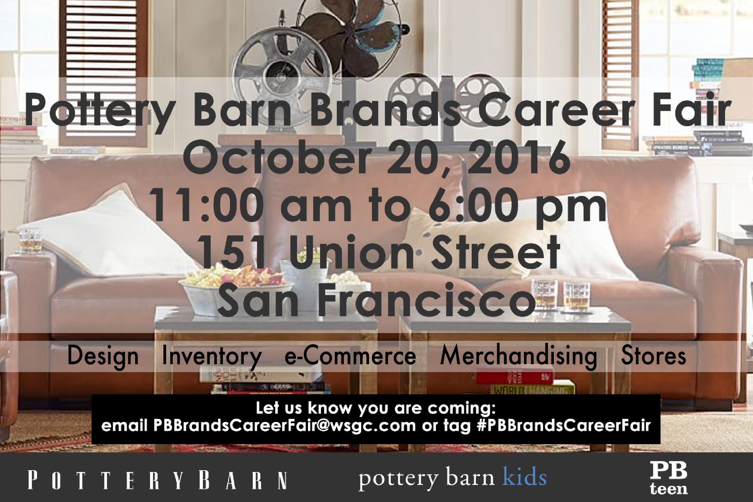 Pottery Barn Job Fair With Images San Francisco Design