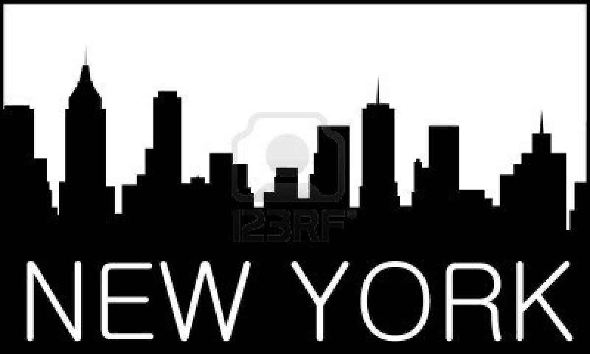 skyline of new york city royalty free cliparts vectors. Black Bedroom Furniture Sets. Home Design Ideas