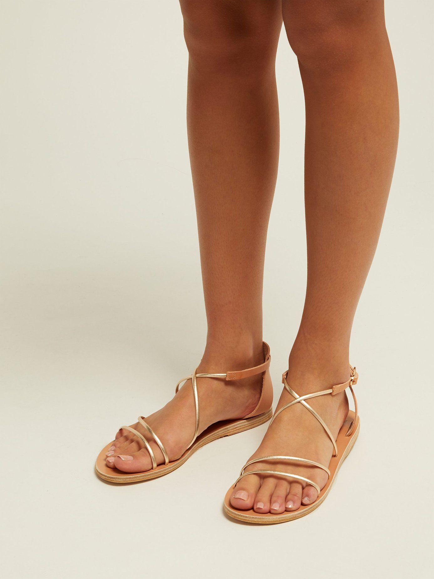 05b8783ee Meloivia metallic leather sandals