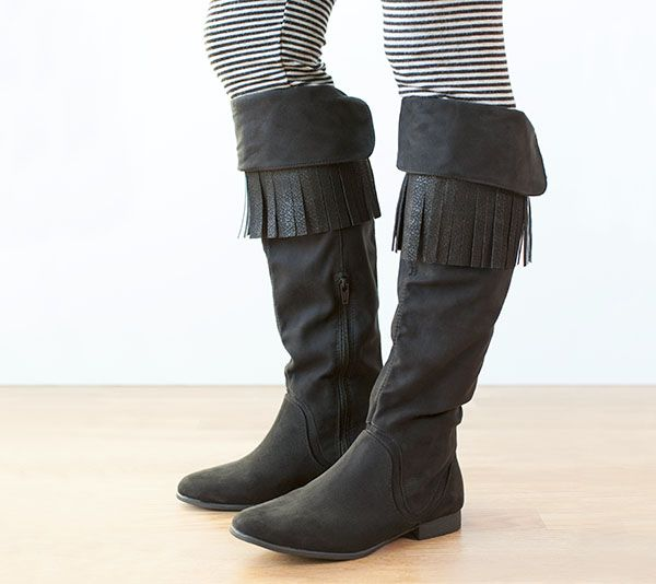 Leather Fringe Boots - check them out on the Cricut® Blog today!