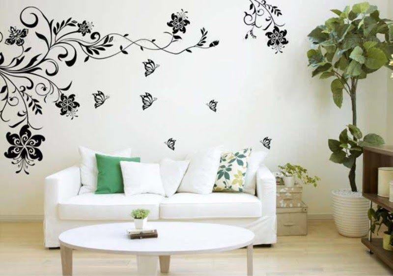 Gambar Bunga Lukisan Dinding