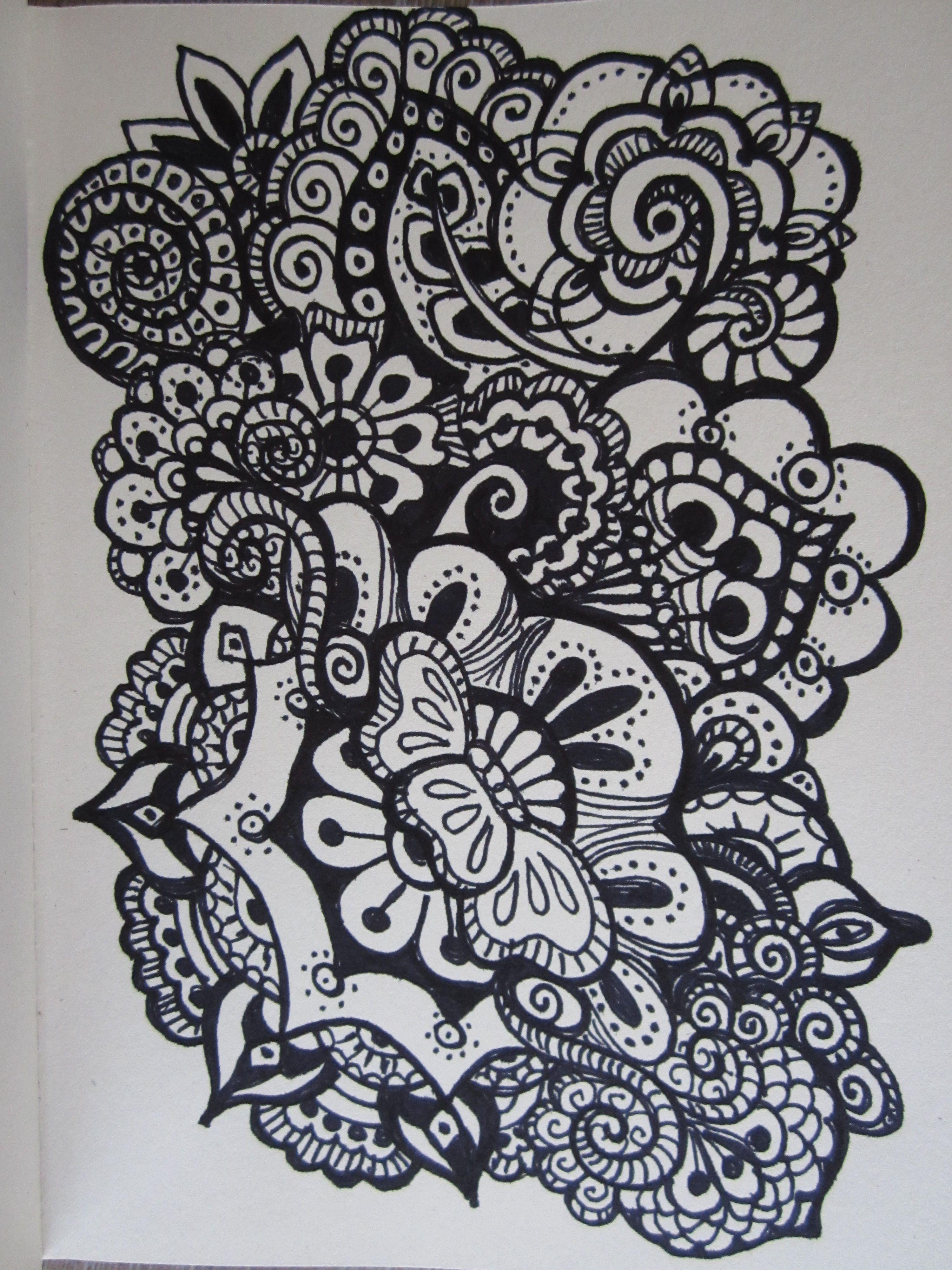 doodle flower - doodle bloem | doodle | Pinterest | Bilder zum malen ...
