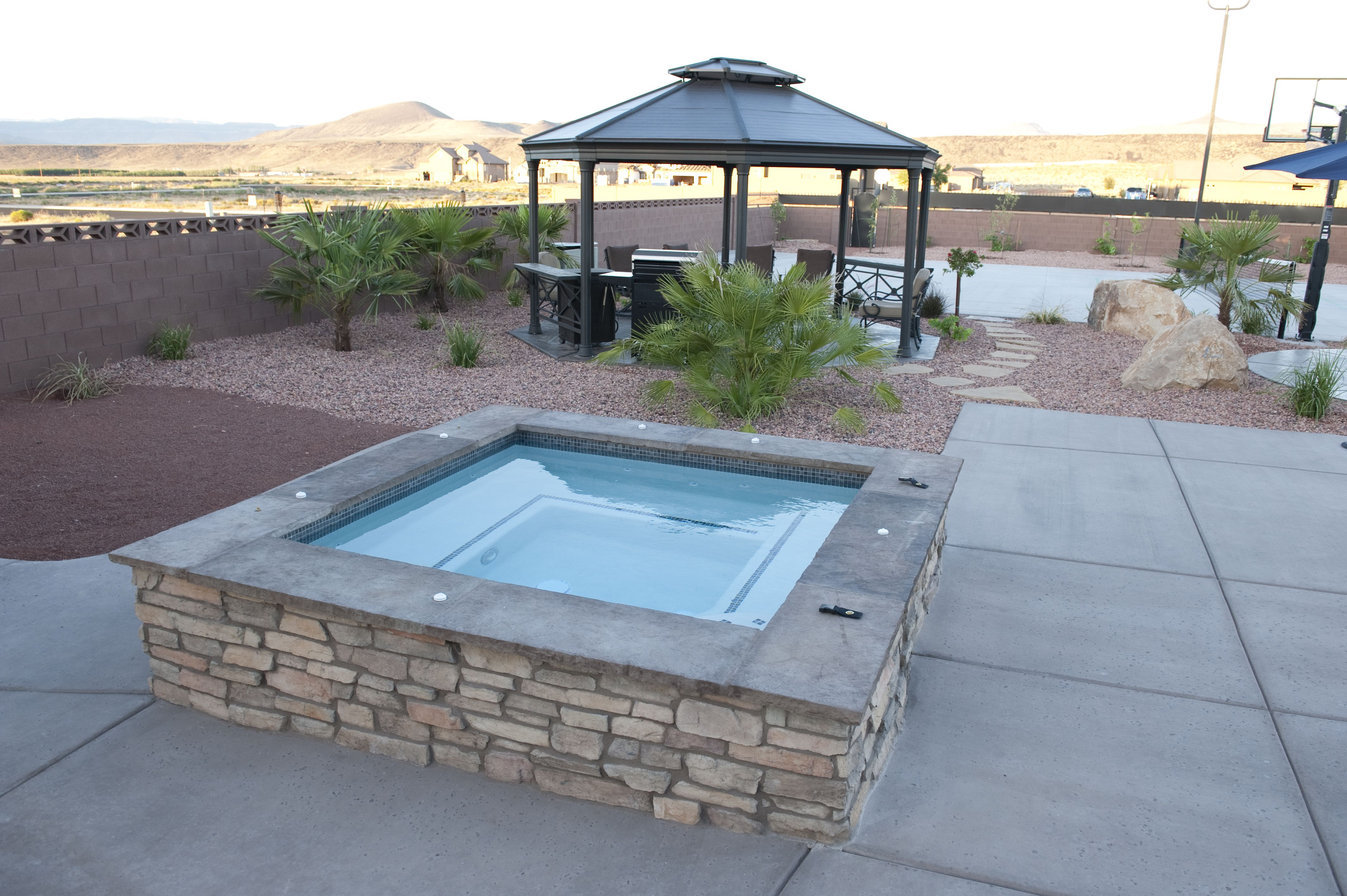 custom spa by American heritage homes http://ahhomes.com/pools-spas/