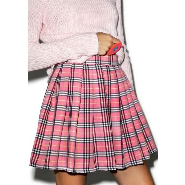 Reality Bites Baby Plaid Skirt ( 32) ❤ liked on Polyvore featuring skirts,  mini skirts, high-waisted skirts, pink skirt, pink high waisted skirt, ... 35fb6b7a4240