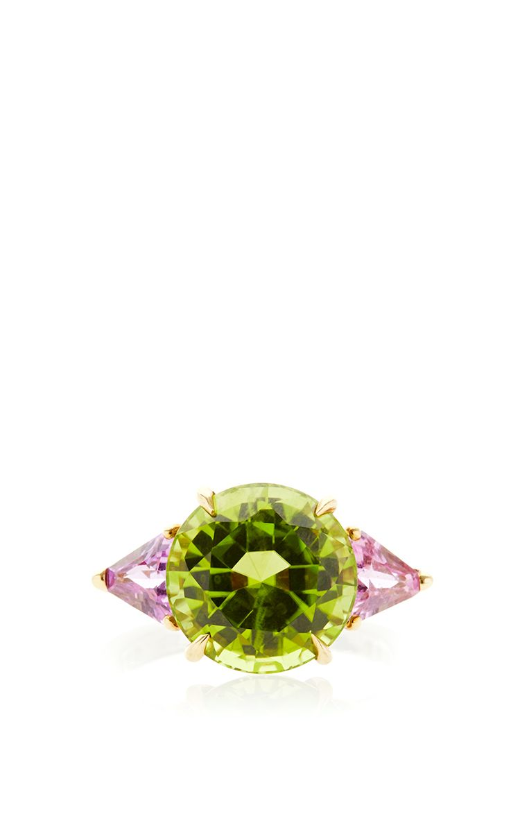 One Of A Kind Round Peridot Ring by Paolo Costagli for Preorder on Moda Operandi
