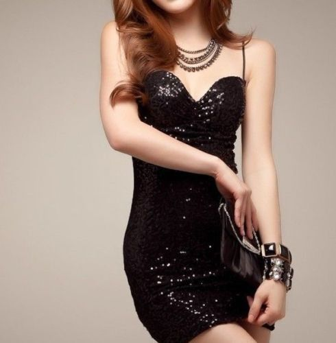 New Sexy Lady Women Cocktail Party Black Clubwear Mini Dress Fit S-M 11  #Other #dress #Cocktail