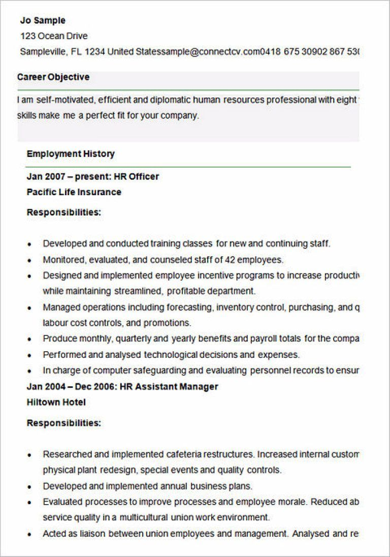 Ultimate Guide To Writing Your Human Resources Resume Career