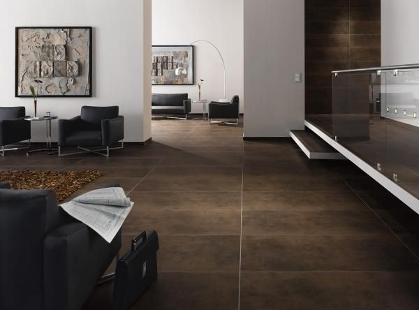 Dark Flooring Tile 4010 Brown Extruded Ceramic Unglazed Porcelain Stoneware
