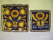 sunflower dinnerware | Tuscan Sunflower Dinnerware Set of Two. Includes Platter And Luncheon . & sunflower dinnerware | Tuscan Sunflower Dinnerware Set of Two ...