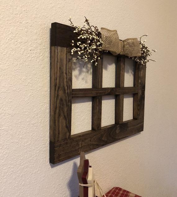 Mid size 15 x 20 6 pane wood window frame Rustic wall ...