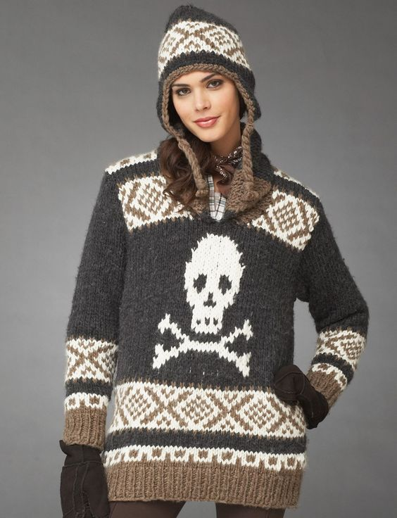 Hardcore Hat And Pullover Bernat Knitting Free Pattern Stuff