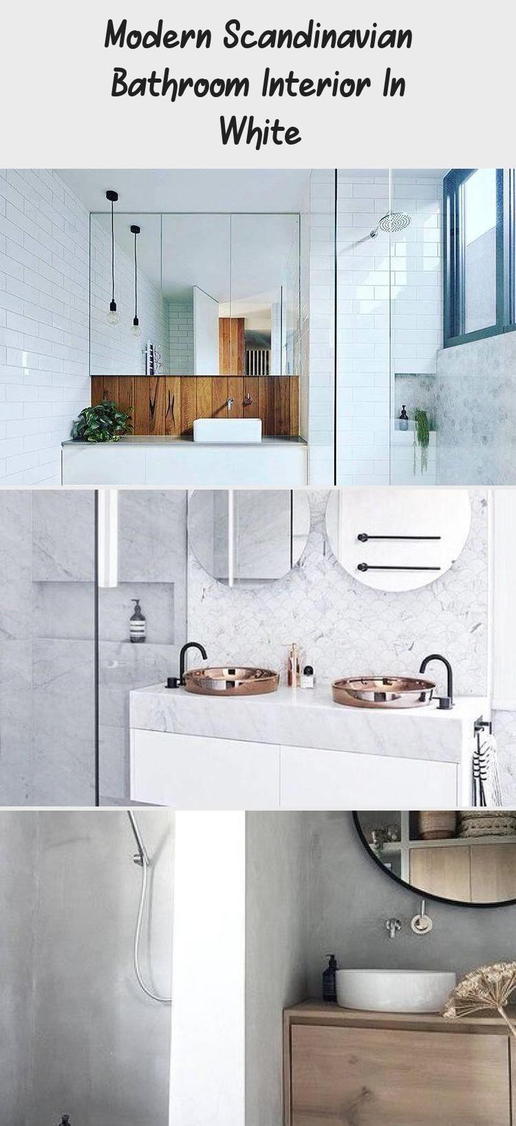 Photo of Modernes skandinavisches Badezimmer-Interieur in Weiß – DEKORATION