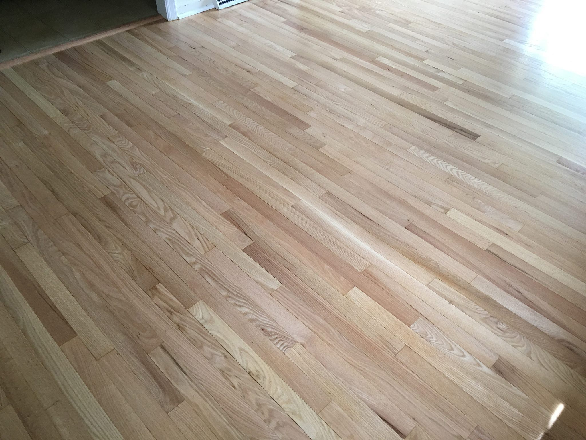Red Oak Floors Refinished with Pro Image Satin Red oak