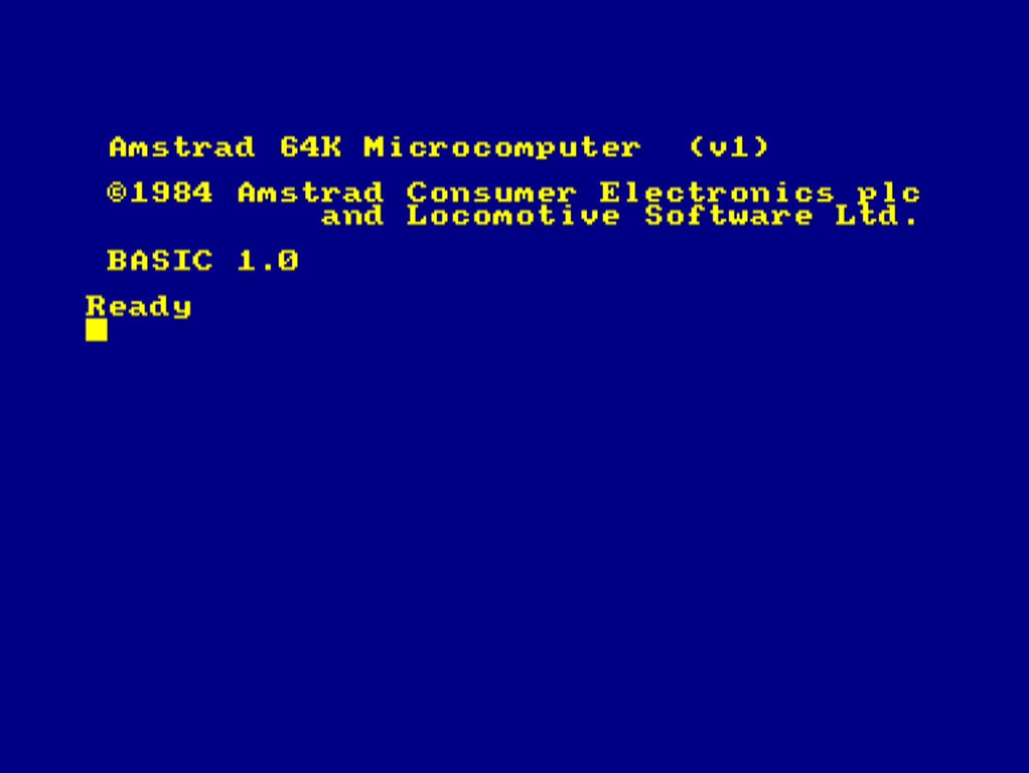 The Amstrad! Woo Hoo!