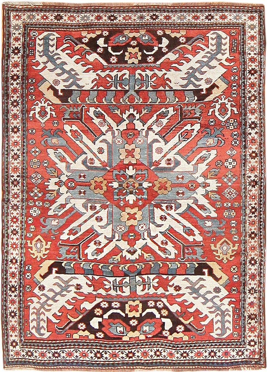 Antique Caucasian Eagle Kazak Rug 47547
