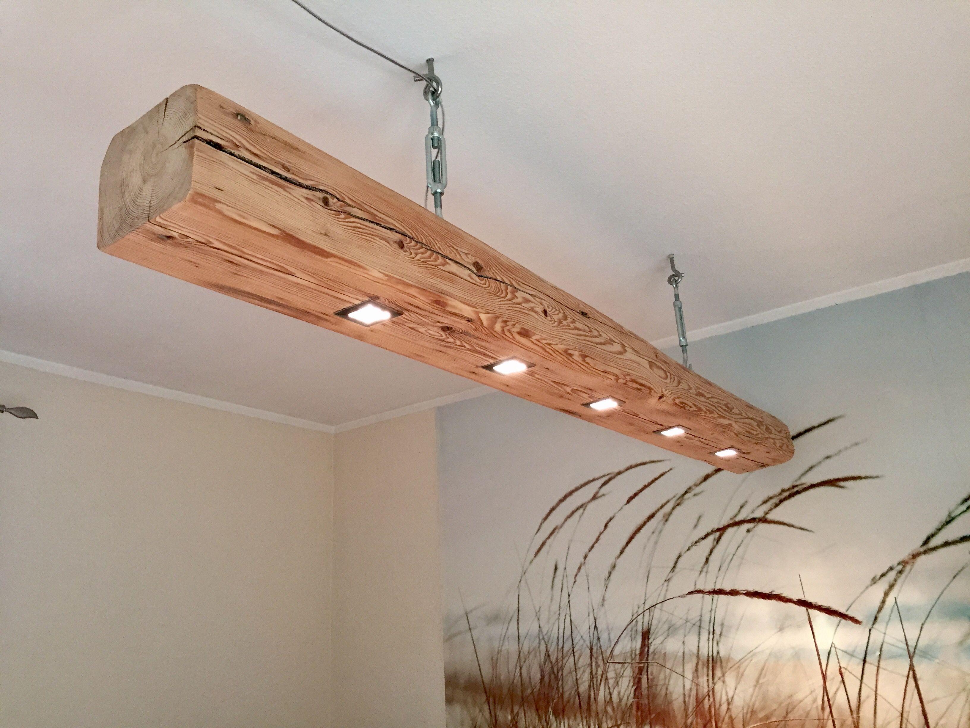 Deckenlampe Holzbalken mit Led´s | Lampen, Deckenlampe, Lampe