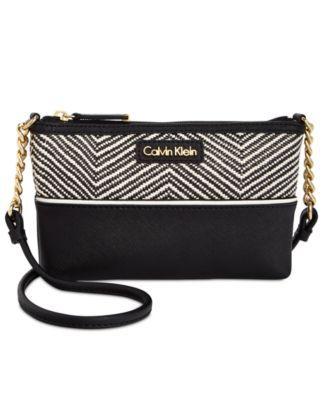 Calvin Klein Pebble Leather Mini Crossbody Handbags Accessories Macy S Leather Mini Mini Crossbody Purses Crossbody