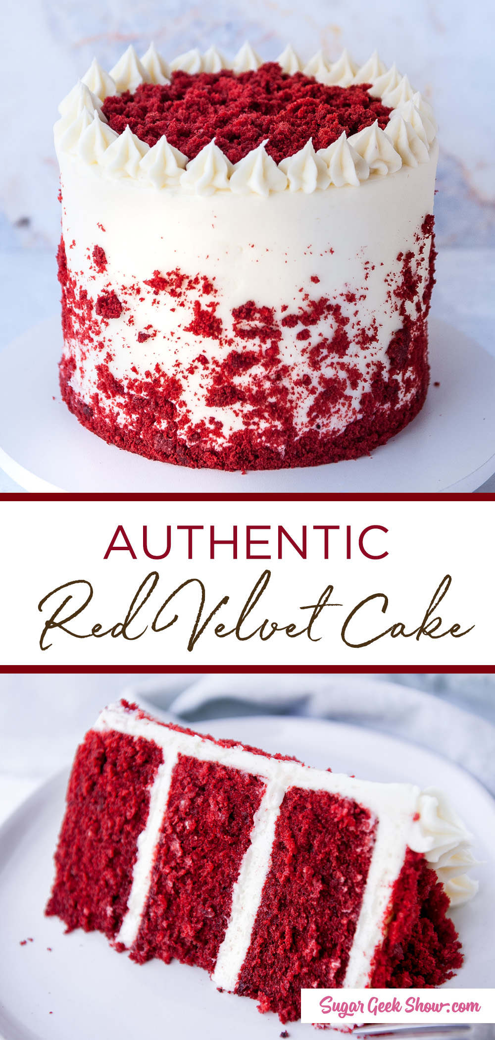 Classic red velvet cake recipe + cream cheese frosting | Sugar Geek Show