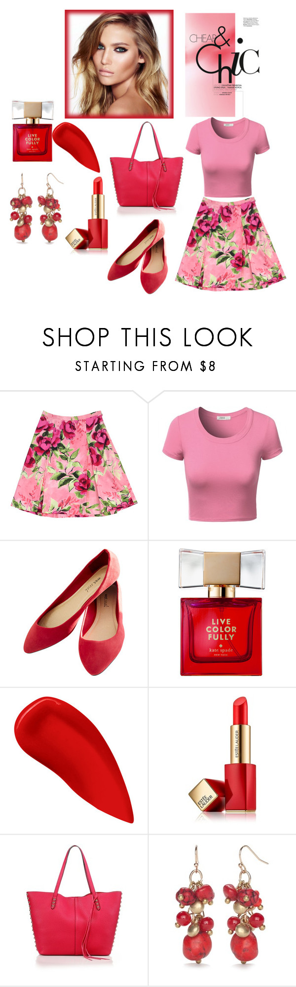 """MODA"" by suadapolyvore ❤ liked on Polyvore featuring Love Moschino, J.TOMSON, Wet Seal, Charlotte Tilbury, Kate Spade, Lipstick Queen, Estée Lauder, Rebecca Minkoff and New Directions"