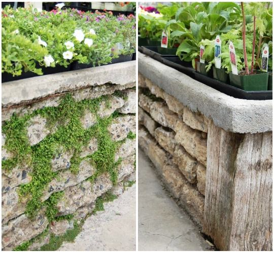 Reclaimed Concrete Blocks: Love These Raised Beds Made Out Of Broken Pieces Of