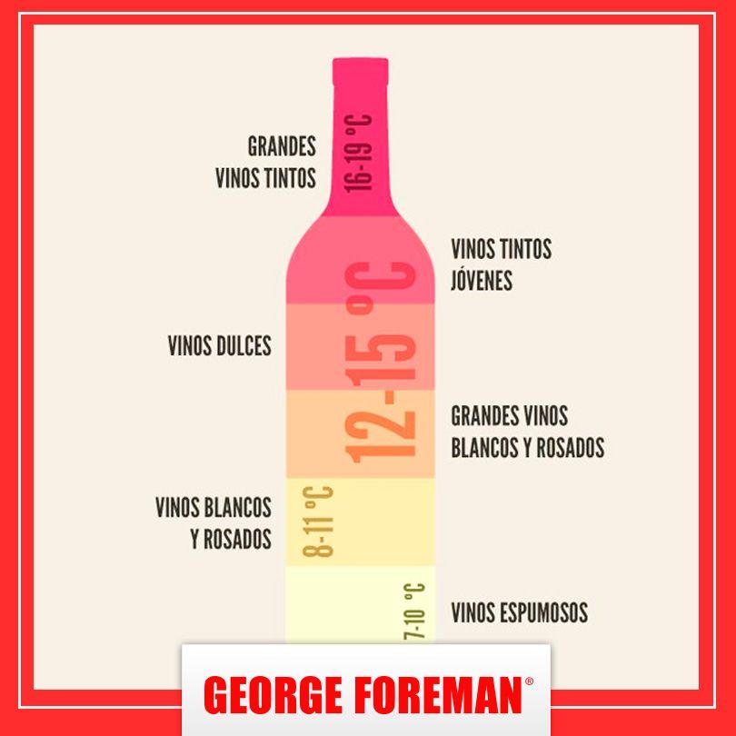 sabes cul es la temperatura ideal para cada tipo de vino maridaje