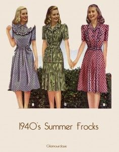 3280c8f94dc There are some typical dresses style in early 1940s