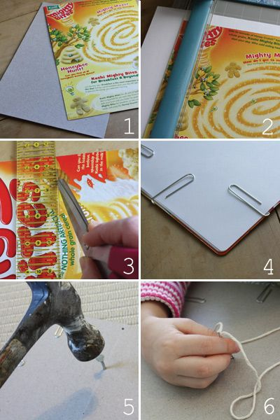 Make a book for read across america day cereal box and making books instructions in how to make a notebook using cereal box ccuart Images
