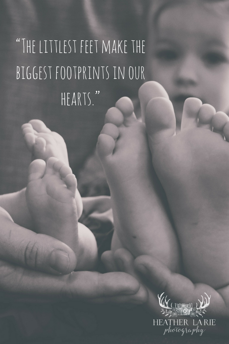 Footprints Tiny Feet Toes Cute Baby Kids Children Quote