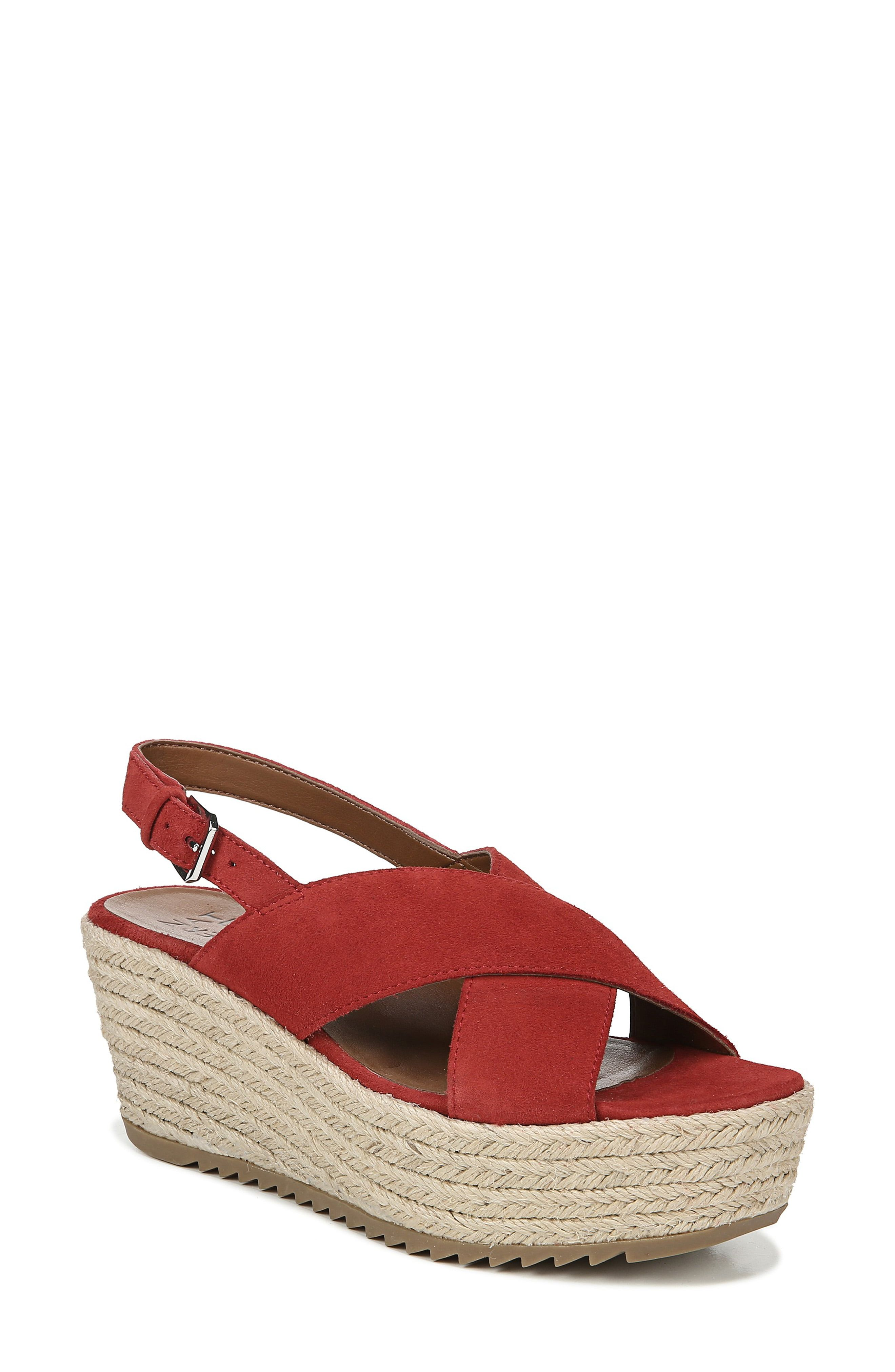 c4baadbef8f Women's Naturalizer Oak Espadrille Wedge Sandal, Size 4 M - Red ...
