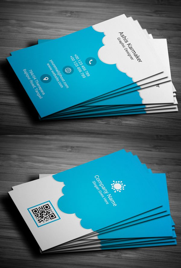 Cloudy Business Card Design | I Love Design | Pinterest | Business ...