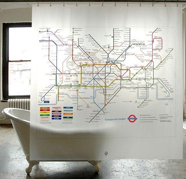 wunderschoene duschvorhaenge ideen, duschvorhang: die schönsten ideen und gestaltungstipps | bathroom, Design ideen