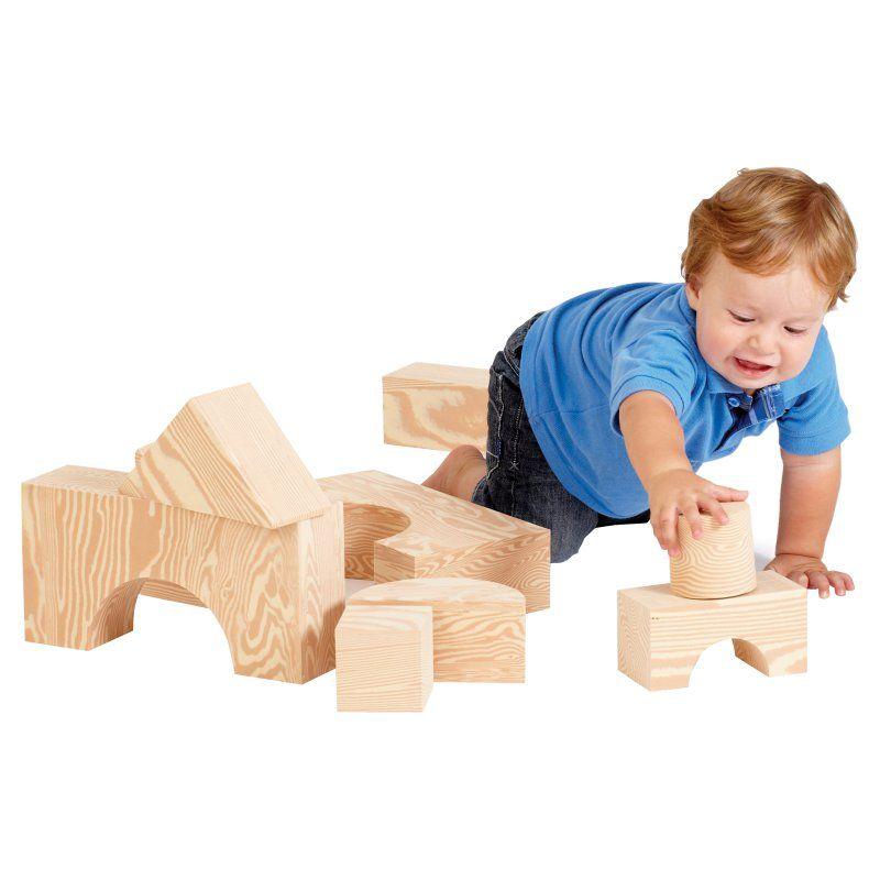 Edushape 32 Piece Big Wood-Like Blocks - 726032 - 726032