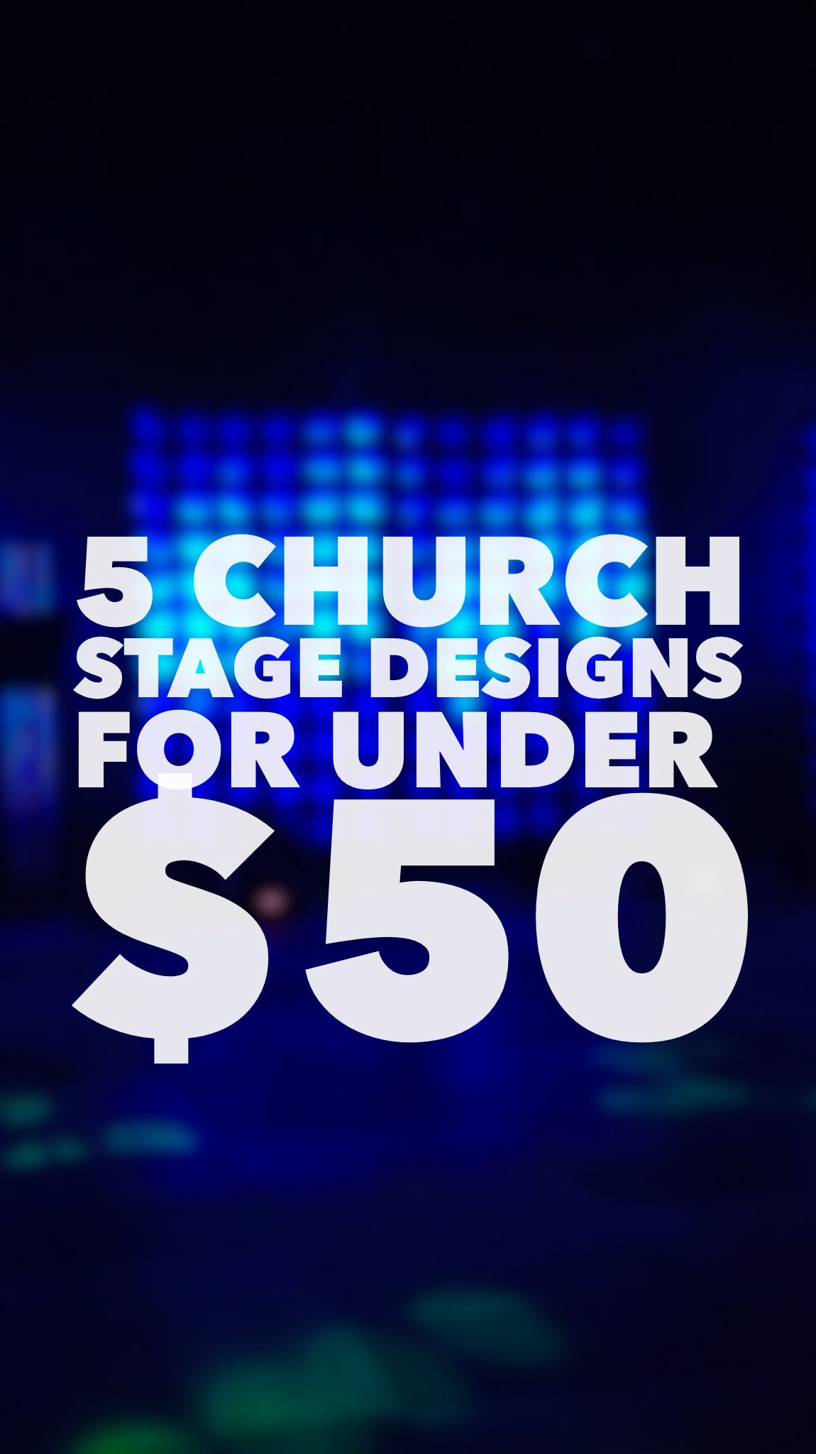 Easy Church Stage Designs For Under 50 Church Media