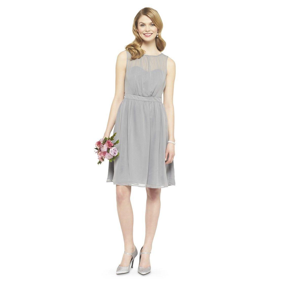 Womenus chiffon illusion sleeveless bridesmaid dress neutral colors