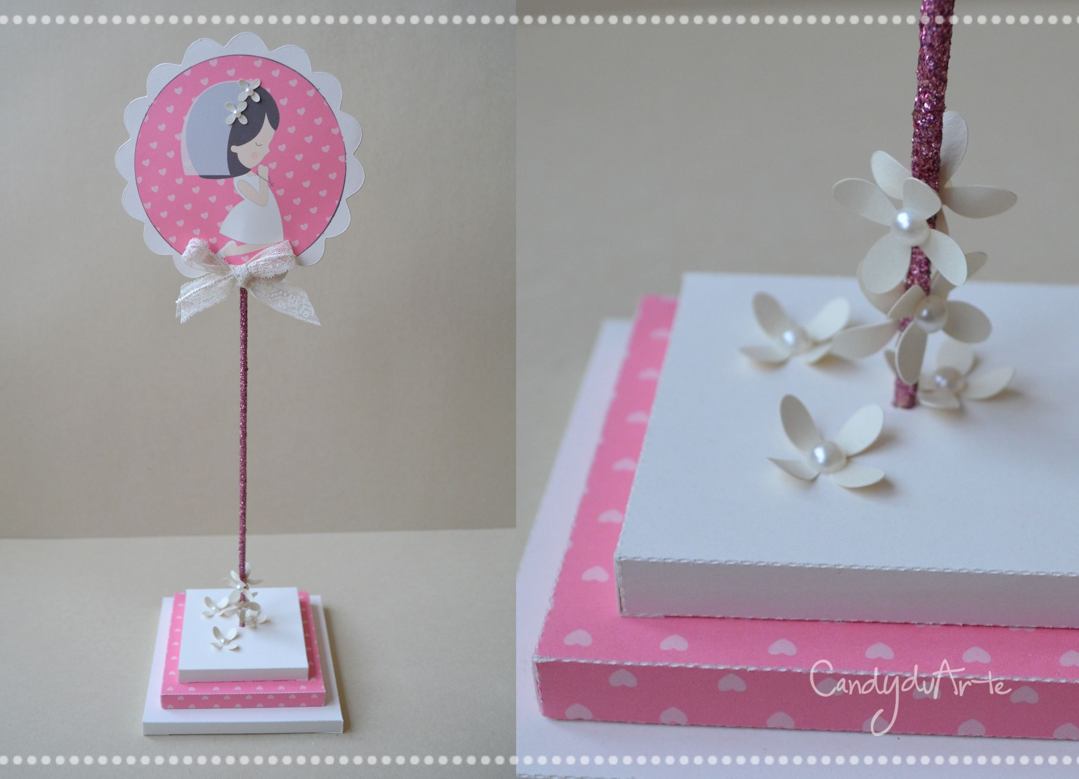 Tavolo Comunione ~ Centro tavola per prima comunione cake topper by