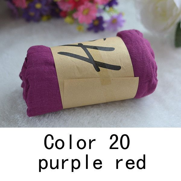 Cotton Blend Solid Casual Scarf