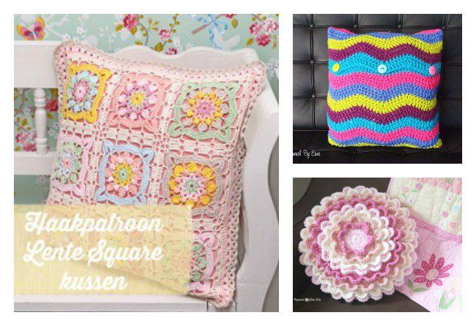 10+ modèles de crochet d'oreillers magnifiques gratuits   – Pillows and Cuddlers