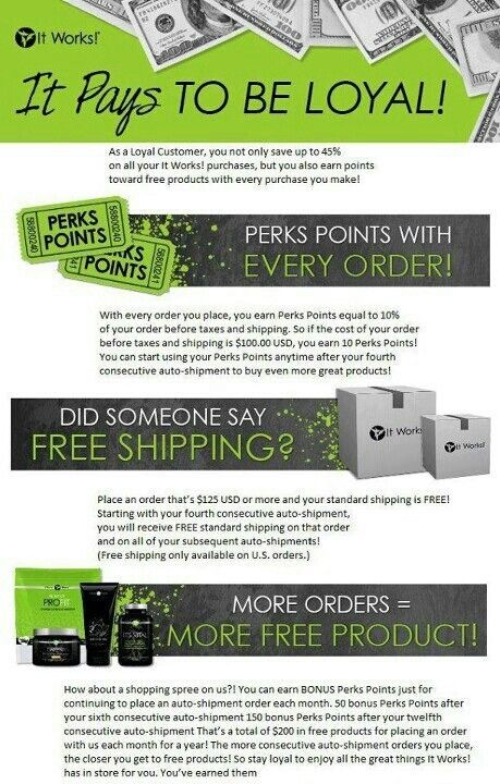 Earn points for every dollar you spend! Samanthamariebrooks.myitworks.com